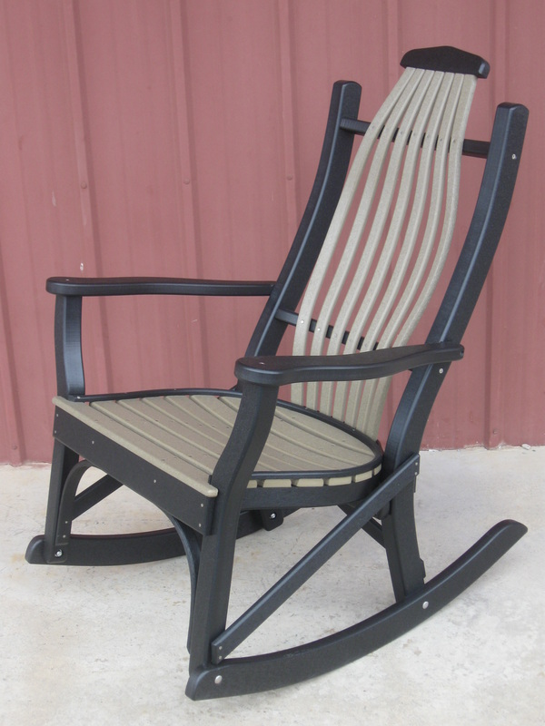 Composite Adirondack Rocking Chairs 45957 besides Garden likewise Amish Poly Outdoor Furniture together ...